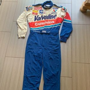 VTG Simpson Valvoline cummins driving suit signed